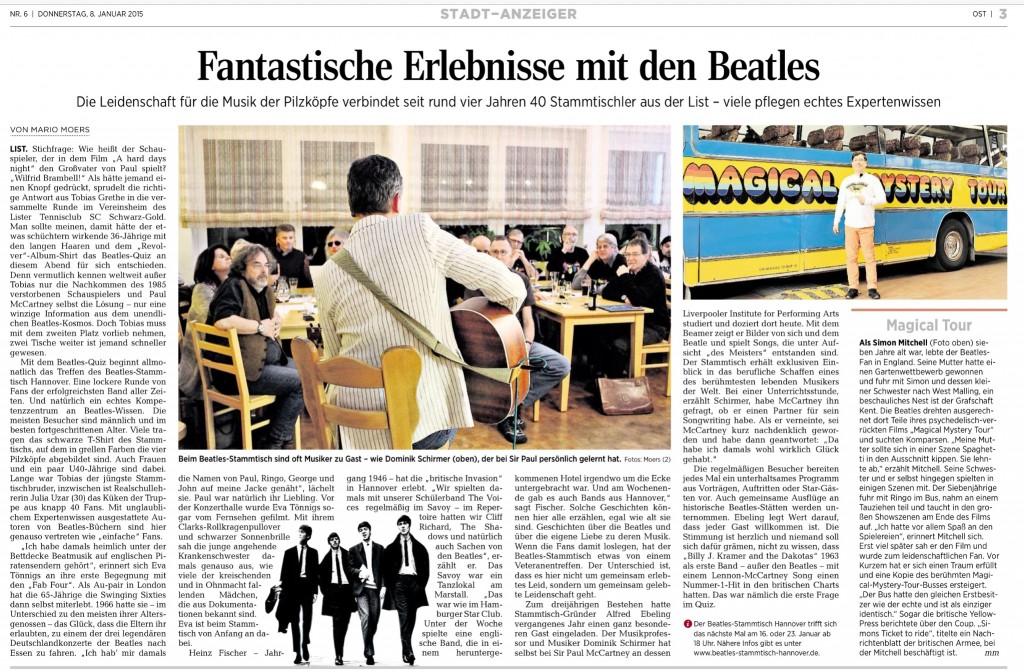 Fantastische Erlebnisse mit den Beatles